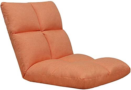 JJSFJH Silla Lazy Sofa Lounge con, 5 posiciones reclinadas de piso a 90 ° Silla ergonómica para juegos, ideal para asiento trasero de asiento de oficina asientos de cojín para sala de estar dormitorio