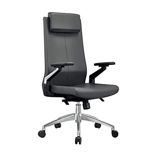 Boss-bureaustoel,HogerugleuningPU-lederen bureaustoel,Verstelbare rugleuning Vergrendelbare opklapbare armen Computerbureaustoel,Dikke vulling en ergonomisch ontwerp voor lendensteun,Afmeting: