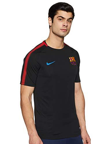 Nike BRT Sqd SS Maillot du FC Barcelone pour Homme M Noir (Noir/Rouge (University Red) / Soar)