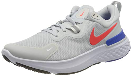 Nike React Miler, Scarpe da Corsa Uomo, Pure Platinum/BRT Crimson-Racer Blue-Platinum Tint-White-Black, 43 EU