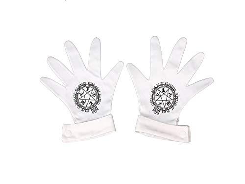 Ilovcomic Hellsing Damen Handschuhe aus Alucard Runen Pentagramm 4. ova weiß