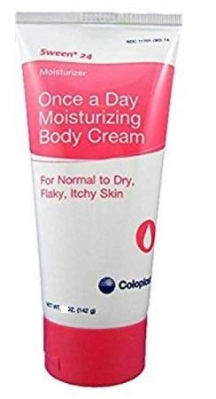 Sween 24 Hand and Body Moisturizer, 9 oz. Tube Unscented Cream CHG Compatible, 7095 - Case of 12