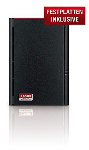 Buffalo Link5 520D Unità NAS desktop 2 bay Buffalo LS520D0602-EU da 6 TB (2 x 3 TB) , Nero