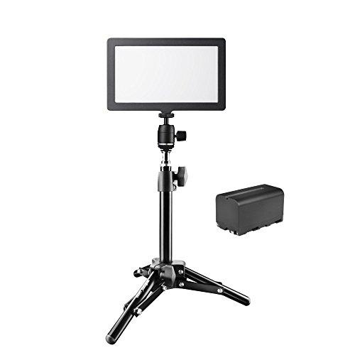 Walimex Pro 21243 Soft LED 200 Flat Bi-Color - Foco de luz LED, Color Negro