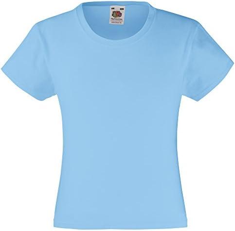 pour enfant 14-15 ans Blanc Fruit of the Loom/T-Shirt 100 /% coton