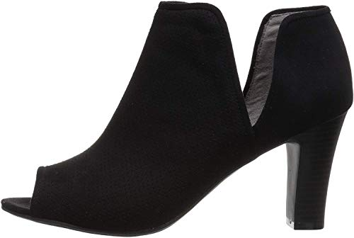 LifeStride Women's Coana Ankle Bootie, Black, 8 W US