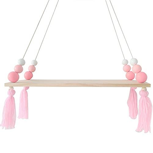 Display Wall hängande Hylla Swing Rope Flytande Hyllor med rep String Home dekorativa stil 1