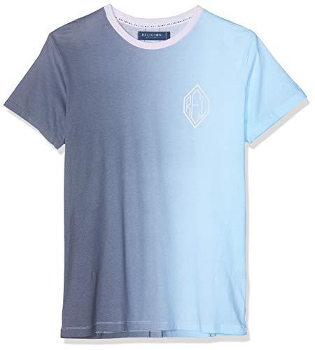 Religion Vertical Gradient tee Camiseta, Gris (Grey/Blue 631), X-Large para Hombre