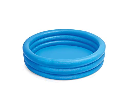 Intex FBA_58446EP Crystal Blue Kids Outdoor Inflatable 66' x 15'Swimming Pool, Blue, 8'