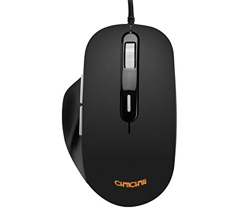 Gaming Wired Mouse 7200 DPI Optical Sensor 10 Million Click Life 6 Programmable Button LED Backlit Ergonomic Design Compatible with PC Laptop Mac Windows 10 Android USB-A(Running Backlight)