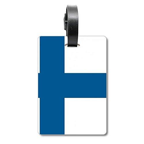 Etiqueta de identificación para Maleta de la Bandera Nacional de Finlandia