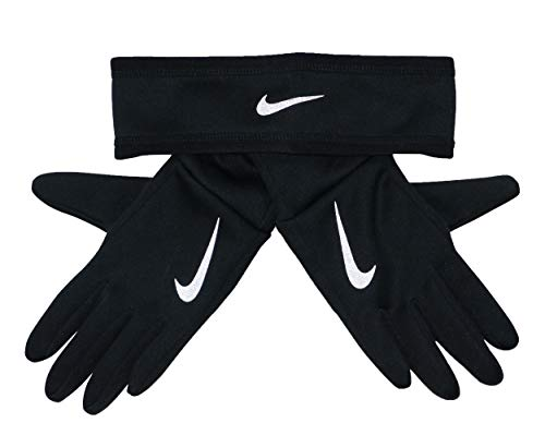 NIKE Dry Damen Athletic Stirnband & Handschuhe Set (Schwarz, XS/S)