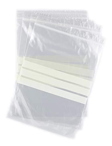 Bolsas autocierre con Franjas para Escritura 16 x 22 cm (1000 Unidades)