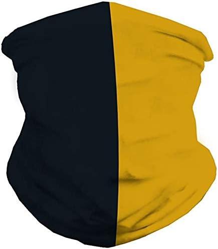 Unisex Seamless Face Mask Bandanas Multi Functional Face Scarf Full Coverage Tube Bandanas Yellow product image