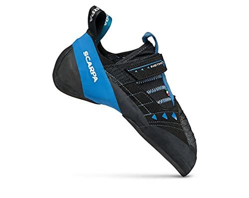 SCARPA Instinct VSR Rock Climbing Shoes for Sport Climbing and Bouldering - Black/Azure - 10-10.5