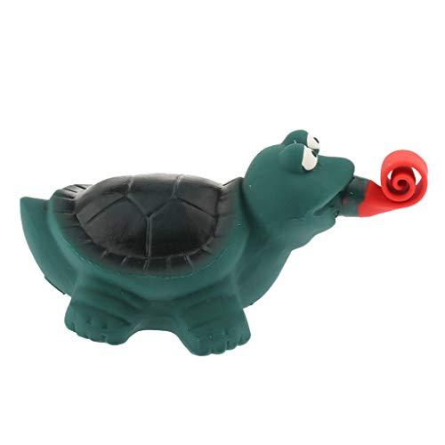 P Prettyia Tierform Latex Kauspielzeug Hundespielzeug mit Quietscher für Hunde - Schildkröte