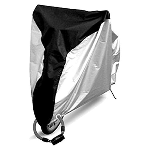 ZXLZM Funda para Bicicleta, Cubierta Bicicleta, Funda Bicicleta, S/M/L/XL, Negro + Plateado, 210T Oxford, Anti Polvo Resistente al Agua a Prueba de UV,M(180×60×90cm)