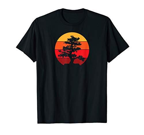 Pacific Ocean Beach Bonsai Tree Sun Retro Vintage T-Shirt