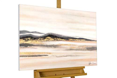 KunstLoft® Acryl Gemälde 'Goldene Steppe' 100x75cm handgemalt Leinwand Bild