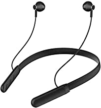 UrCart Wireless Earphones Headphones for Samsung Galaxy A31 Sports Bluetooth Wireless Earphone with Deep Bass and Neckband Hands Free Calling inbuilt Mic Headphones with Long Battery Life and Flexible Headset Black