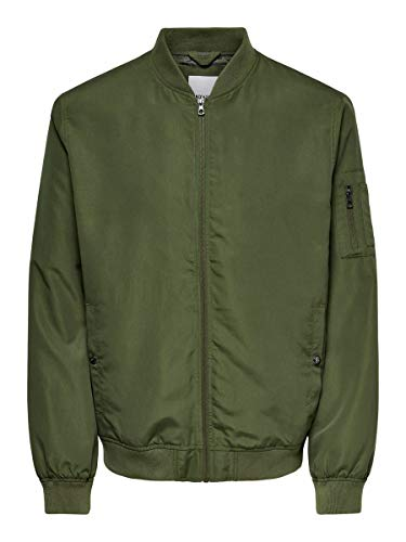 Only & Sons NOS Onsjack Bomber Noos Otw Chaqueta, Verde (Olive Night Olive Night), X-Small para Hombre