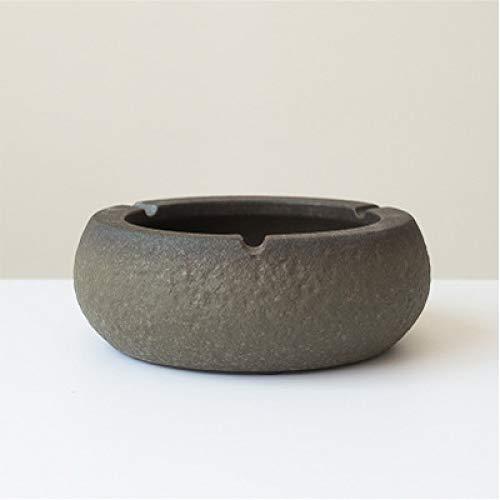 Aschenbecher Büro Rund Persönlichkeit Steinzeug Retro Aschenbecher Riff Glasur 17 * 6,2 cm