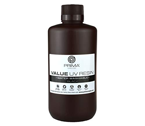 PrimaCreator Value Water Washable UV Resin - 1000 ml - Black