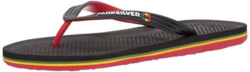 Quiksilver Men's Haleiwa Sandal, Black/red/Green, 14 M US
