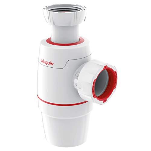Wirquin D32 30722152 Neo, Siphon für Waschbecken, Durchmesser 32 cm, Weiß