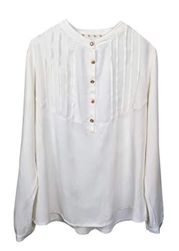 HEIMATLIEBE Damen Bluse mit Faltenoptik