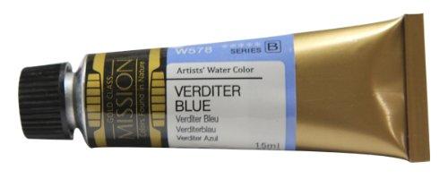 Mijello Mission Gold Water Color, 15ml, Verditer Blue