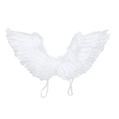 Amosfun Alas de Plumas de Ángel con Luz Led para Niños Disfraces de Fiesta de Cosplay Accesorios Accesorios de Rendimiento sin Batería (Estilo 1)