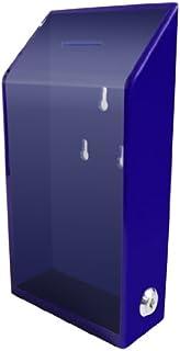 My Charity Boxes - Acrylic Box - Donation Box - Collection Box - Ballot Box - Kupat Tzedakah (Blue)