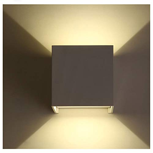 Lixada Lámpara de Pared Moderna Apliques de Pared Regulable Lámpara Pared Interior 12W LED Arriba Abajo pared Interior/Exterior Impermeable IP65 Dormitorio Escalera Sala de Estar