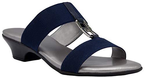 LONDON FOG Eliza Damen-Sandalen mit Keilabsatz, Blau (navy), 36.5 EU