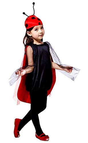 Vestito di Carnevale da Coccinella Idea Travestimento Bambina - Taglia L 7-8 anni