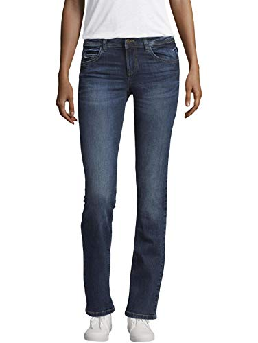 TOM TAILOR Damen Alexa Staight Jeans, Mid Stone Wash Denim, 33W / 32L