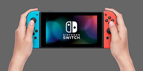 Nintendo Switch with Neon Blue and Neon Red Joy Con Product Image