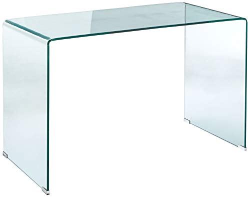 Coaster Home Furnishings Writing Desk, Clear and Chrome