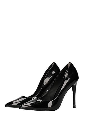 Steve Madden Daisie, Scarpe col Tacco Punta Chiusa Donna, Nero (Patent Black), 38 EU