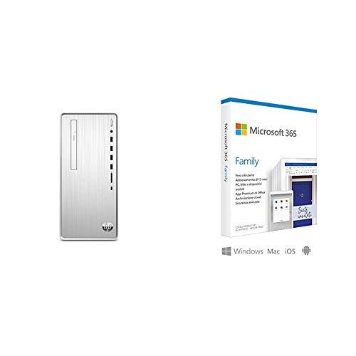 HP – PC Pavilion TP01-0073nl Desktop, Intel Core i7-9400F, RAM 8 GB, SSD 512 GB, Graf + Microsoft 365 Family | 6 Persone | Box