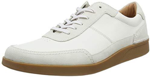 Clarks Herren Oakland Run Derbys, Weiß (White Leather), 45 EU