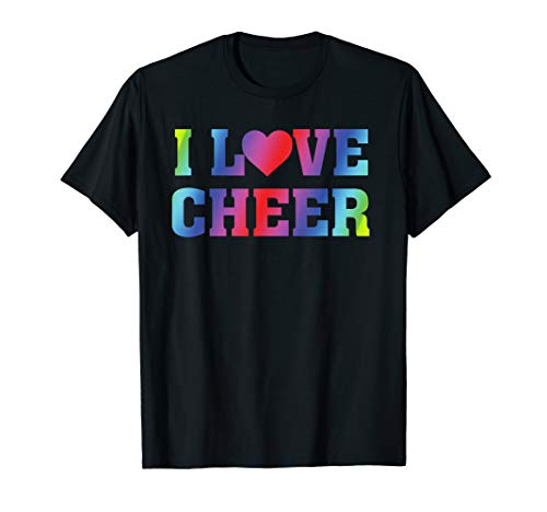 I Heart Love Cheer - Cheerleading Cheerleader Quote T-Shirt
