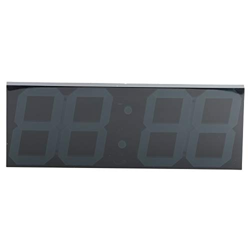 Jacksking Reloj LED, número de Pared LED Reloj de Tiempo Reloj de Pared Digital Blanco Grande Espejo Reloj electrónico LED para Espacio público doméstico(Enchufe de la UE)