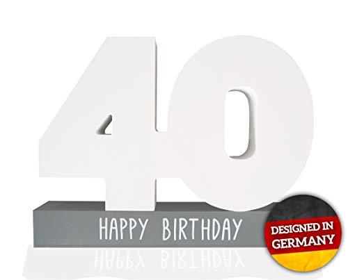 Huckleberry Home® Gästebuch Geburtstag aus Holz - Gästebuch für den Geburtstag für Männer und Frauen inkl. Stift - Kreative Geschenkidee - Tischdeko (40)