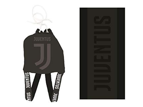Hermet SRL FC Juventus Zaino in Spugna + Telo Mare Jacquard 80X160