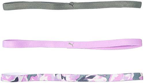 PUMA Pack de 3 cintas deportivas para el pelo para mujer, color nocturno