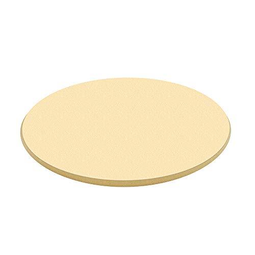 Pizzastein Rund, Cordierit Brotbackstein für Ofen und Grill, Backzubehör für Hausgemachtes Pizza, Brot und Flammkuchen, 38x38x1.5cm