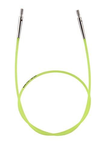 KnitPro Nadelseil Neongrün, 60cm Cable: Colour Coded: Neon Green: 35cm, Nylon