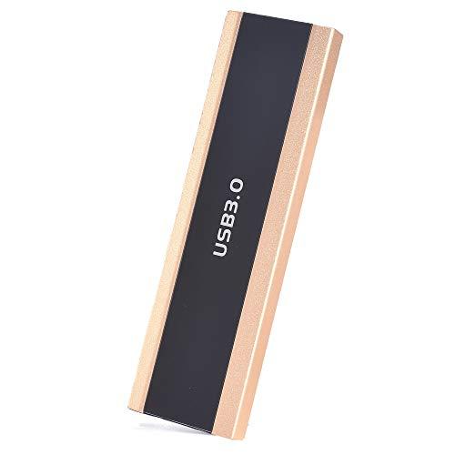 Hard Drive esterno portatile, 1 TB 2 TB esterno Hard Drive esterno USB 3.0 Tipo C, compatibile con Mac Laptop e PC (2TB-A Golden)